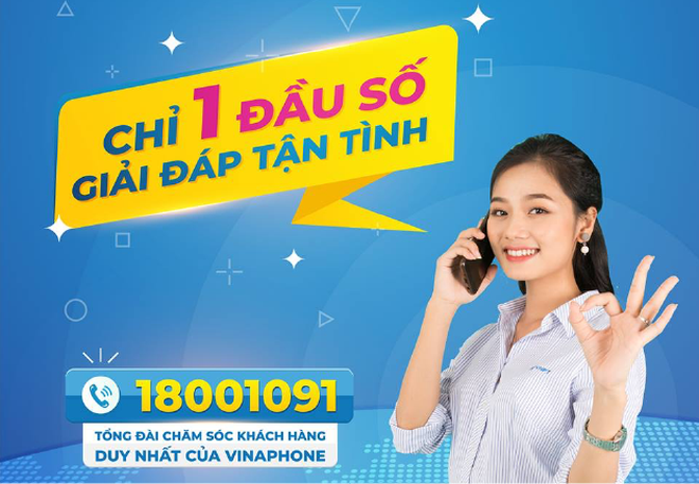 VinaPhone có tổng đài chăm sóc khách hàng duy nhất 18001091