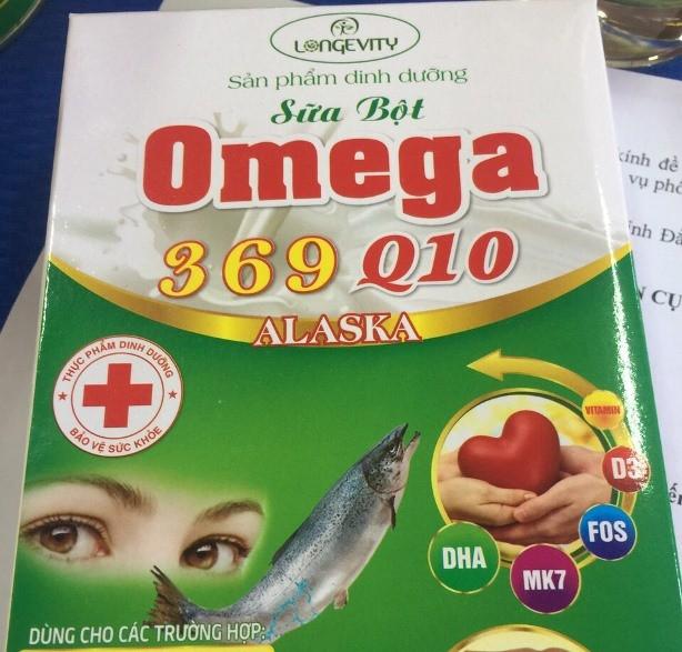 Sữa bột Omega 369 Q10 Alaska không đạt chuẩn công bố