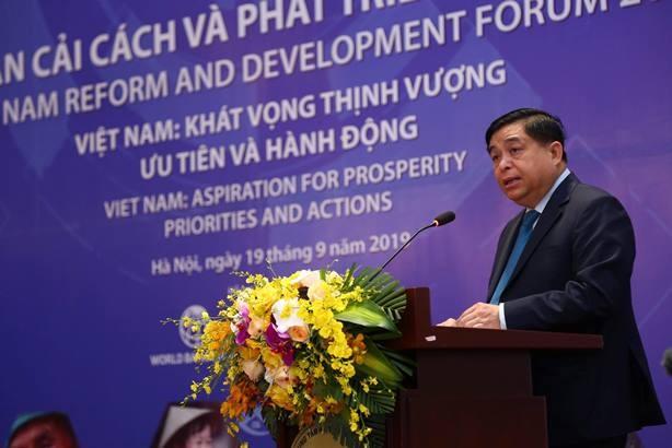 Bộ trưởng Bộ KH-ĐT Nguyễn Chí Dũng phát biểu khai mạc VRDF 2019