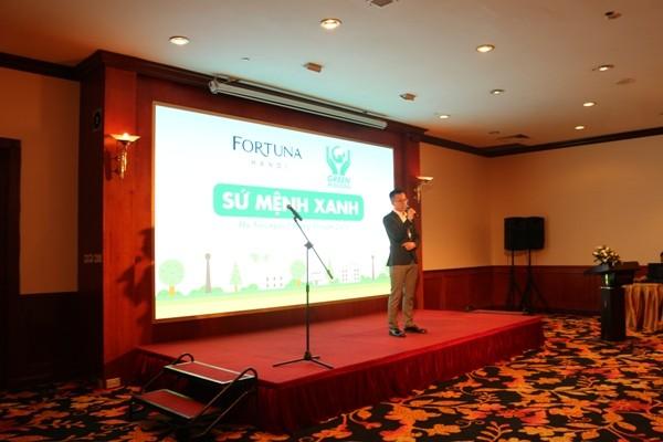 Đại diện khách sạn Fortuna Hà Nội công bố chương trình Sứ Mệnh Xanh