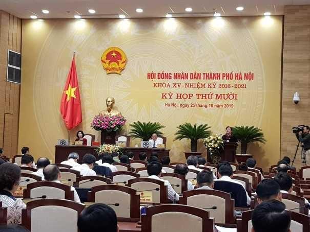 Bà Nguyễn Thị Bích Ngọc- Chủ tịch HĐND TP Hà Nội phát biểu khai mạc kỳ họp