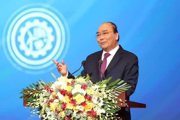 Thủ tướng phát biểu khai mạc hội nghị với doanh nghiệp sáng 23-12 (