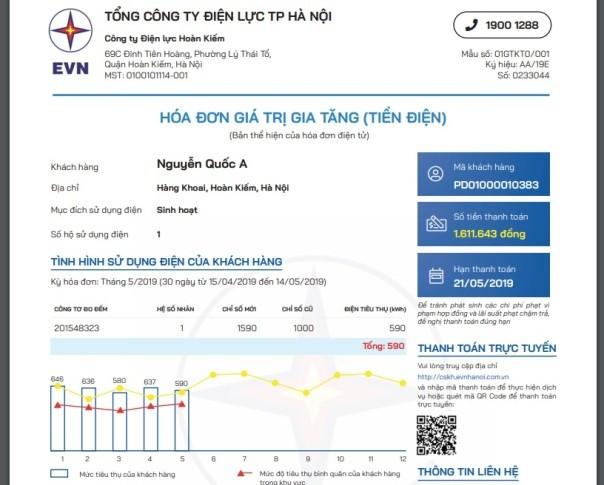 Hóa đơn điện mới của khách hàng có nhiều thông tin, minh bạch và dễ kiểm tra