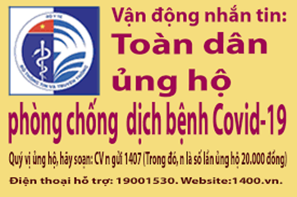 Nhắn tin ủng hộ phòng, chống dịch Covid-19 qua tổng đài 1407