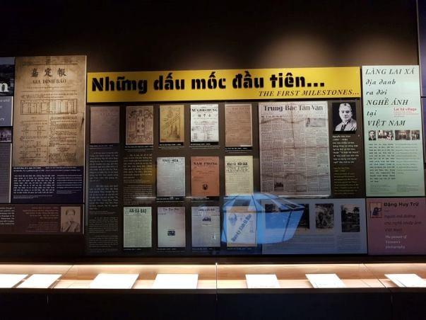 Một góc Bảo tàng báo chí Việt Nam