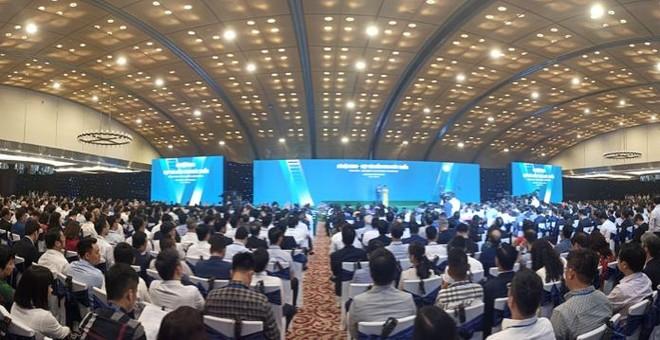 """Hơn 1.300 đại biểu trong và ngoài nước tham gia hội nghị """"Hà Nội 2020- Hợp tác đầu tư và phát triển"""" (ảnh: Phú Khánh)"""