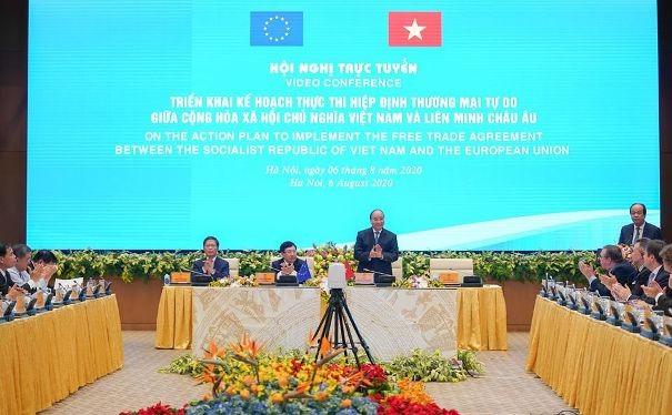 Thủ tướng Chính phủ Nguyễn Xuân Phúc chỉ đạo hội nghị trực tuyến về thực thi EVFTA