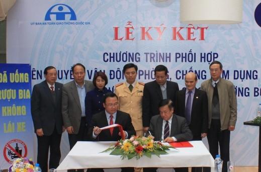 Hiệp hội bia, rượu và nước giải khát Việt Nam cũng đã vào cuộc đảm bảo ATGT