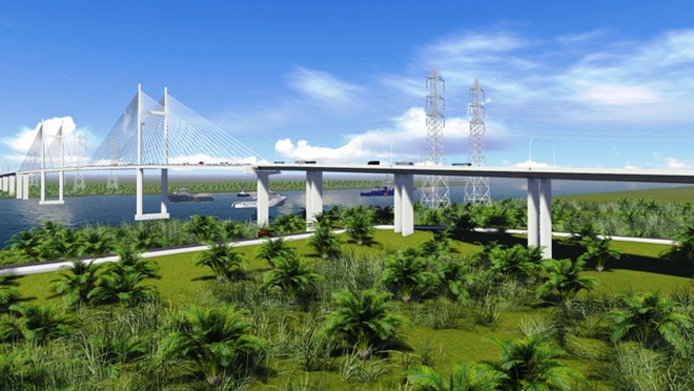 Cầu Phước Khánh nối huyện Cần Giờ (TP. HCM) và huyện Nhơn Trạch (Đồng Nai)