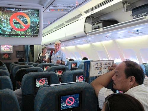 Các chuyến bay đều nhắc nhở hành khách không được hút thuốc lá