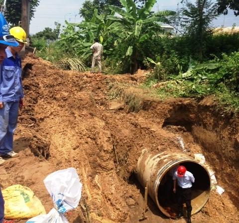 Đường ống nước sông Đà số 2 tháng 9 mới có thể xong ảnh 1