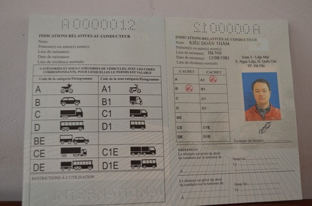 Mọi công dân có nhu cầu cấp GPLX quốc tế có thể đến Sở GTVT Hà Nội làm thủ tục từ 1-3