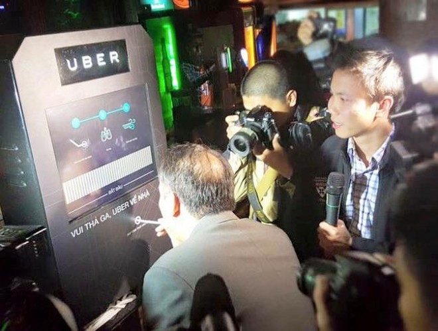 Ubersafe đưa người say về nhà miễn phí