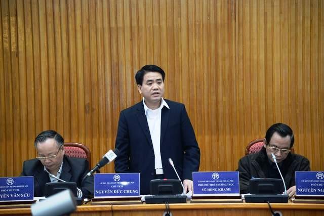 Chủ tịch UBND TP Hà Nội Nguyễn Đức Chung yêu cầu các sở, ngành tập trung đảm bảo cho nhân dân đón Tết Nguyên đán an toàn, vui vẻ