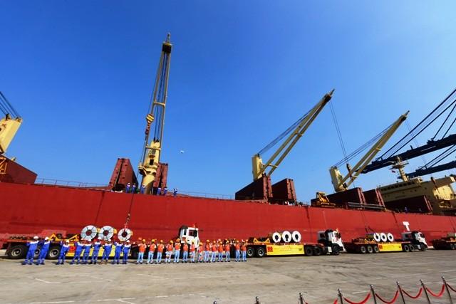 20.000 tấn tôn thành phẩm đầu tiên của Việt Nam được xuất sang Hoa Kỳ