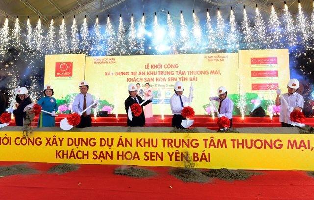 Tập đoàn Hoa Sen khởi công khu trung tâm thương mại, khách sạn cao nhất TP Yên Bái