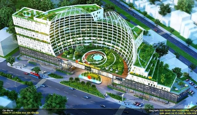 Dự án được thiết kế cách điệu từ hình Hoa Sen, tọa lạc ngay vị trí đắc địa của TP Yên Bái