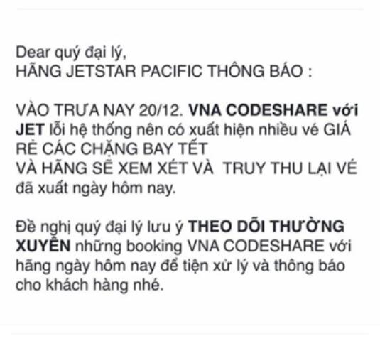 Hàng nghìn vé máy bay giá rẻ dịp Tết Nguyên đán 2017 bỗng nhiên bị hủy
