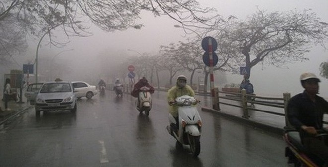 Từ đêm mai 26/12, khu vực Hà Nội chuyển mưa rét