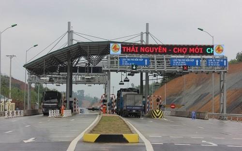 Mức thu phí qua trạm BOT Thái Nguyên- Chợ Mới từ 35.000 đồng/xe từ 25-1