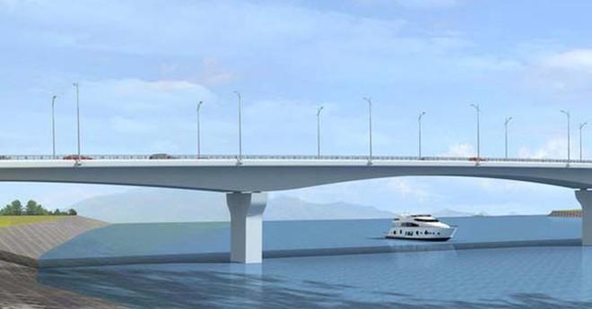 Phối cảnh cầu Việt Trì- Ba Vì vượt sông Hồng sau khi hoàn thiện