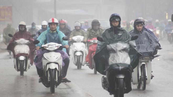 Bắc bộ chìm trong giá rét do nền nhiệt độ thấp kèm theo mưa