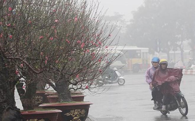 Mưa rào nhẹ hoặc mưa phùn kèm sương mù kéo dài cả tuần ở Bắc bộ