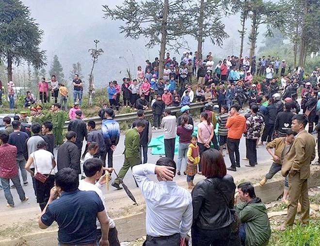 Nơi xảy ravụ tai nạn làm 1 người tử vong, người dân ép đền 200 triệu đồng ở xã Sa Pả, Sa Pa, Lào Cai