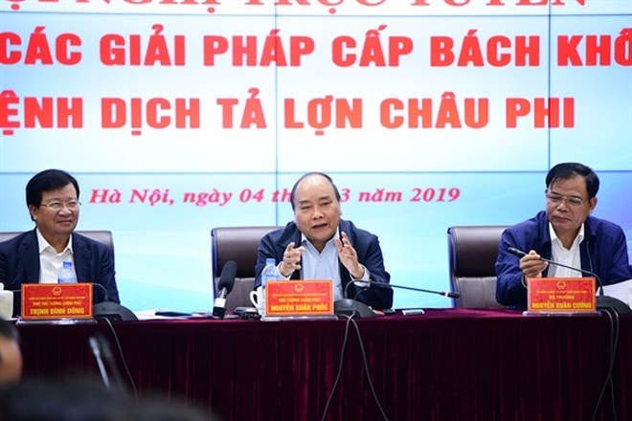 """Thủ tướng Nguyễn Xuân Phúc yêu cầu Bí thư, Chủ tịch các tỉnh, thành phố phải """"xắn tay áo vào chống dịch tả lợn châu Phi"""""""