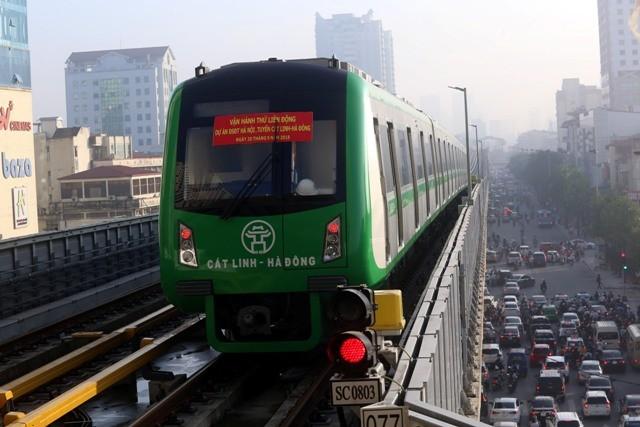 Tàu đường sắt Cát Linh- Hà Đông chưa thể vận hành chở khách trong tháng 4/2019