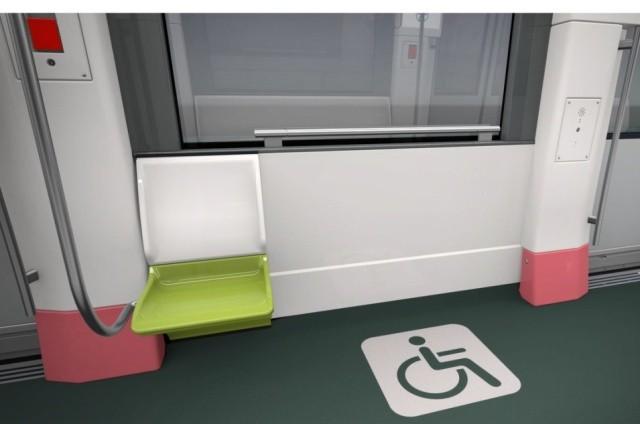 Trên tàu được bố trí chỗ riêng cho người khuyết tật
