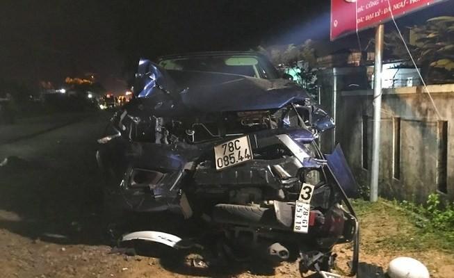 Chiếc xe bán tải đâm hàng loạt xe máy ở Đông Hòa, Phú Yên làm 4 người chết tại chỗ