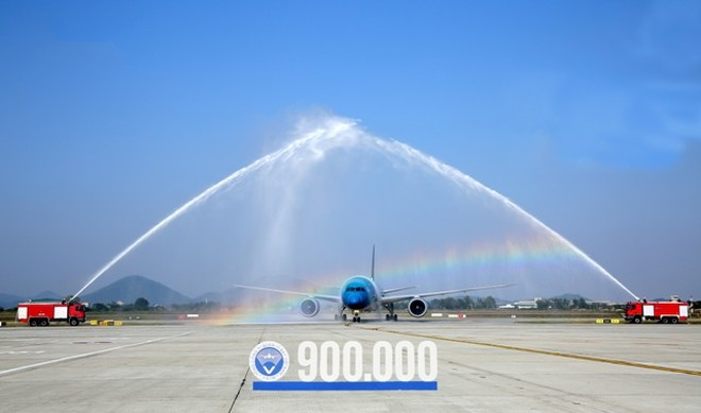 Quản lý bay Việt Nam vừa chào đón chuyến bay được điều hành thứ 900.000