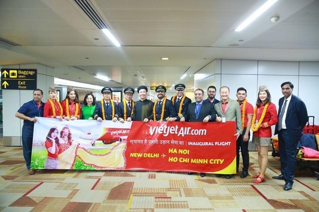 Vietjet đã chính thức mở đường bay thẳng nối Hà Nội tới New Delhi