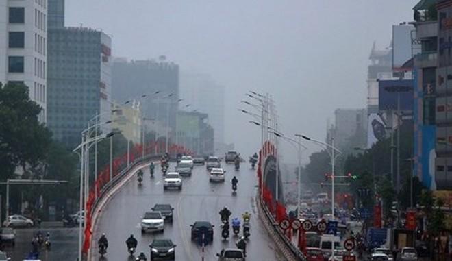 Mưa phùn ở Hà Nội và các tỉnh khu vực đồng bằng Bắc bộ còn duy trì trong cả tuần tới
