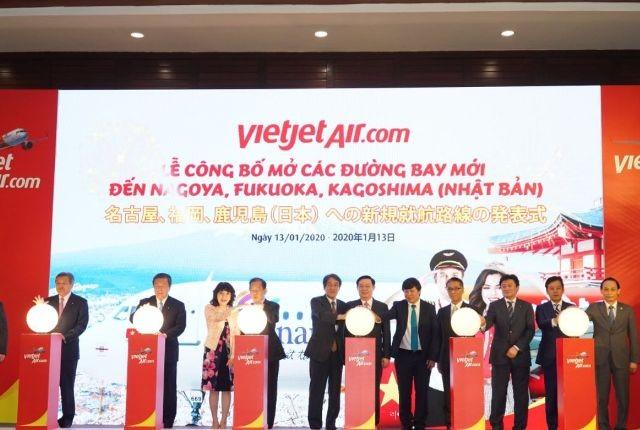 Vietjet Air vừa công bố mở 5 đường bay tới Nhật Bản trong năm 2020