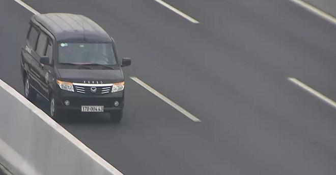 Chiếc ô tô đi ngược chiều trên cao tốc Hà Nội- Hải Phòng vào sáng 17/2