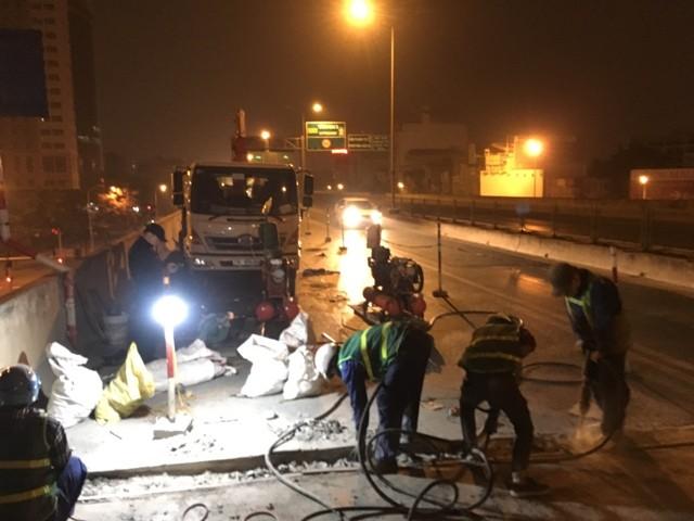 Sở GTVT Hà Nội chi 15 tỷ đồng để sửa chữa, thay thế các gối cầu, khe co giãn đường vành đai 3 trong lần này