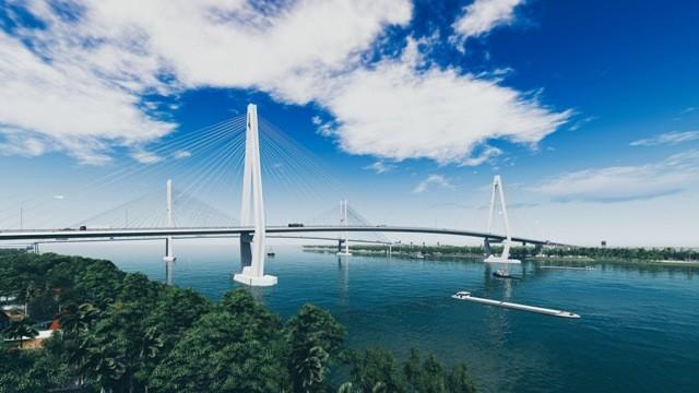 Cầu Mỹ Thuận 2 sau khi hoàn thiện