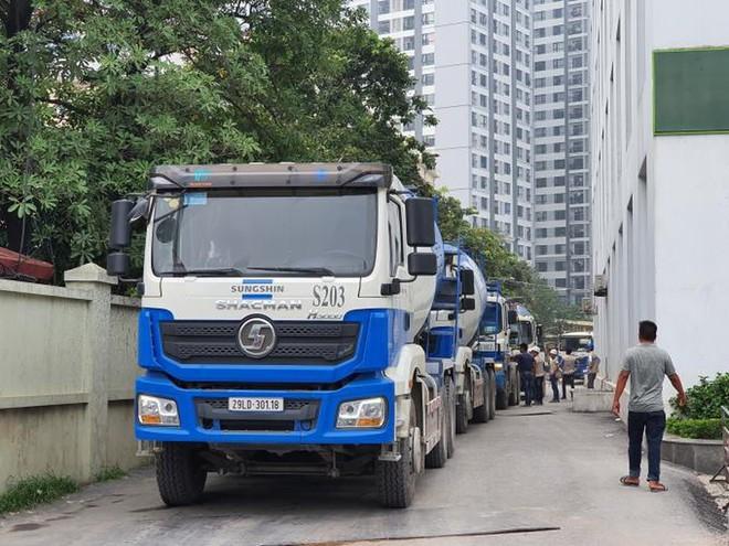 32 xe bồn chở bê tông của SungShin Vina sẽ được đặc cách ra vào gói thầu CP03 dự án đường sắt Nhổn- Ga Hà Nội