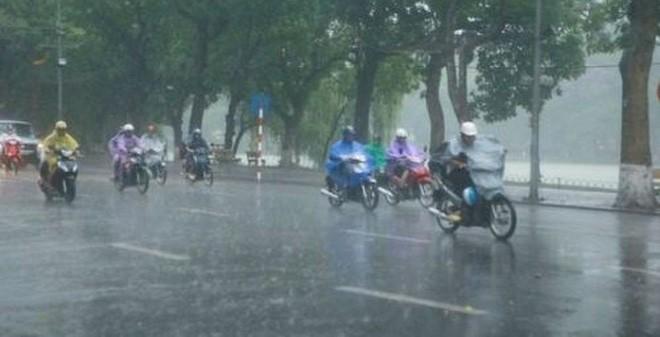 Khu vực Hà Nội hôm nay vẫn có mưa lớn do ảnh hưởng của hoàn lưu bão số 1 và rãnh thấp