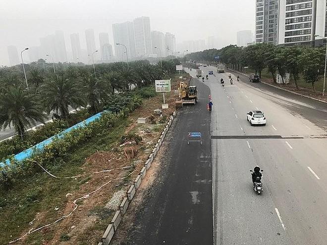 Dự án xén mở rộng đường gom Đại lộ Thăng Long có chiều dài mỗi bên 1,5km, tổng mức đầu tư hơn 46 tỷ đồng