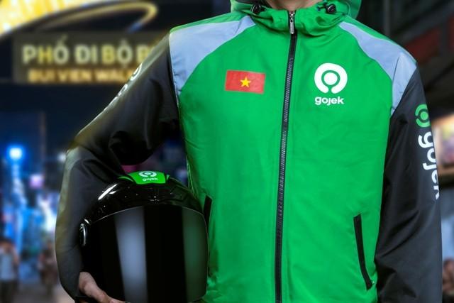 Màu đỏ thương hiệu của GoViet cũng chính thức biến mất, thay vào đó là màu xanh lá cây của Gojek