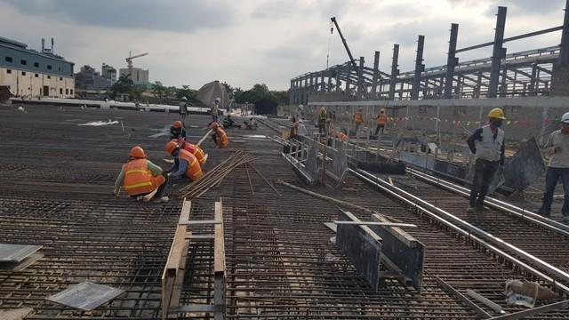 Thi công Depot Nhổn- dự án đường sắt đô thị Nhổn- Ga Hà Nội