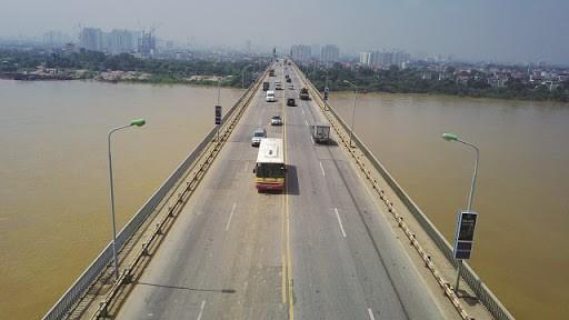 Dự kiến, từ 6/8 sẽ cấm tuyệt đối ô tô lưu thông qua cầu Thăng Long để sửa chữa hư hỏng