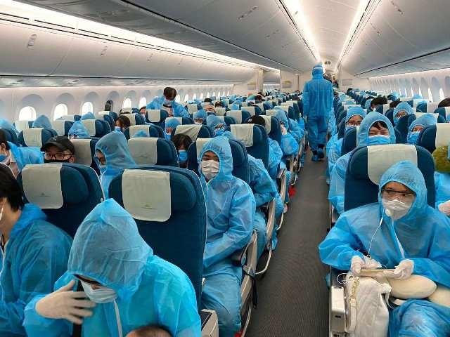 Thời gian qua, Việt Nam đã thực hiện nhiều chuyến bay đưa công dân Việt Nam về nước