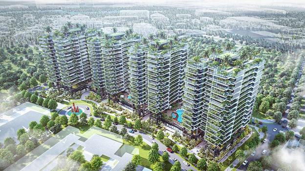 Một dự án của Sunshine Homes tại khu vực quận Long Biên với giải pháp xanh mặt đứng vô cùng ấn tượng