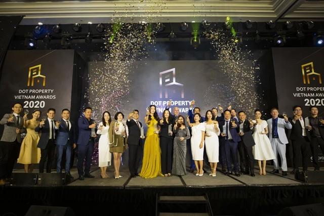 Giải thưởng DOT Property Vietnam Awards 2020 vinh danh những đơn vị doanh nghiệp, tập đoàn có những đóng góp to lớn trong lĩnh vực BĐS năm 2020.