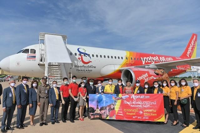 Vietjet Thái Lan vừa mở đường bay Bangkok – Khon Kaen