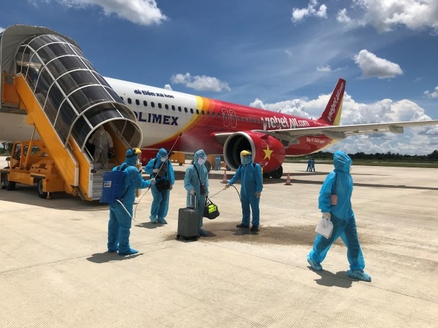 Tất cả các tàu bay của Vietjet sau khi thực hiện các chuyến bay giải cứu công dân Việt Nam về đều được phun khử trùng
